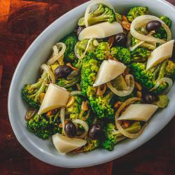 Salada de brócolis c/ palmito